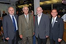 Bild der 4 Redner bei der 5 Jahresfeier des Eichbergturmes