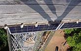 Solarmodule am Eichbergturm