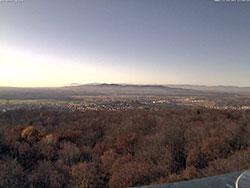 WebCam Bild vom Eichbergturm Richtung Kaiserstuhl